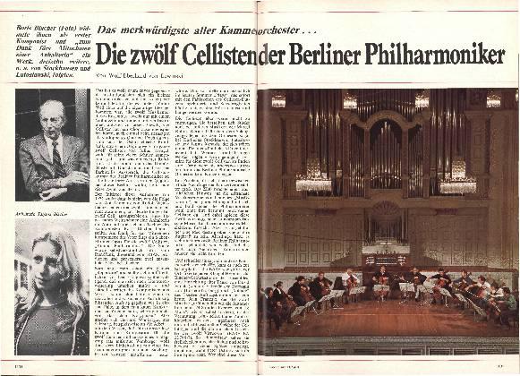 Die zwölf Cellisten der Berliner Philharmoniker