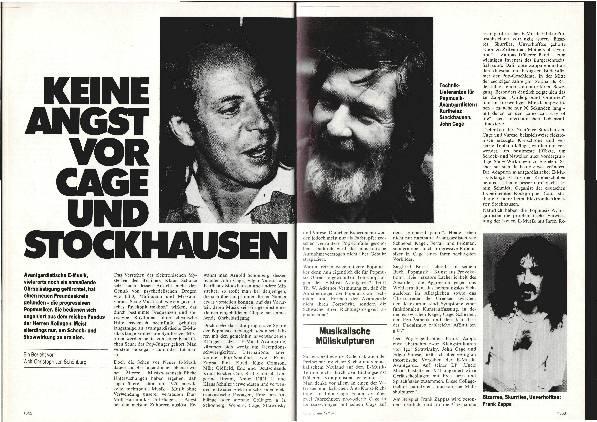Keine Angst vor Cage und Stockhausen