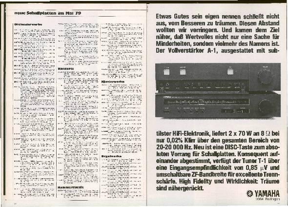 Neue Schallplatten im Mai 79