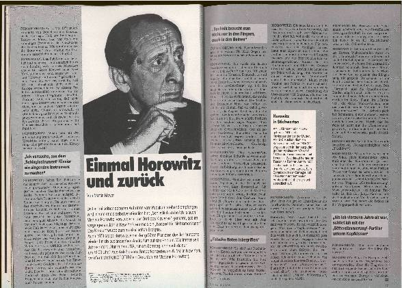 Einmal Horowitz und zurück