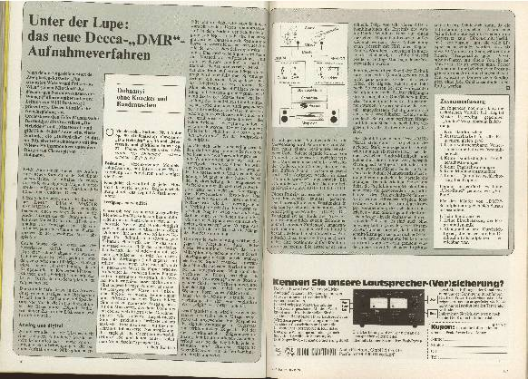 Unter der Lupe das neue Decca-DMR-Aufnahmeverfahren