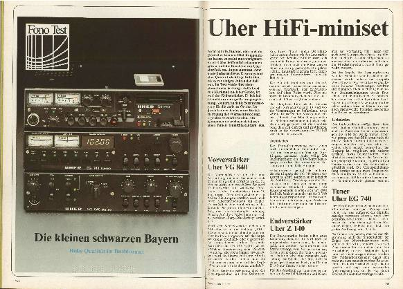Uher HiFi-miniset
