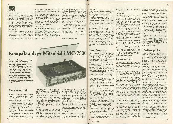 Kompaktanlage Mitsubishi MC-7500