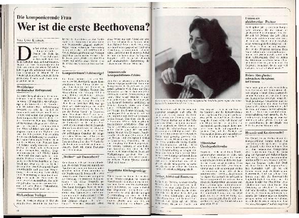 Wer ist die erste Beethovena?