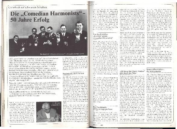 Die Comedian Harmonists - 50 Jahre Erfolg