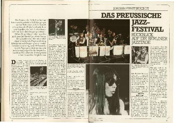 Das preußische Jazz-Festival