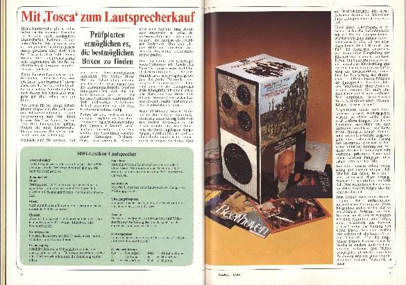 """Mit """"Tosca"""" zum Lautsprecherkauf"""
