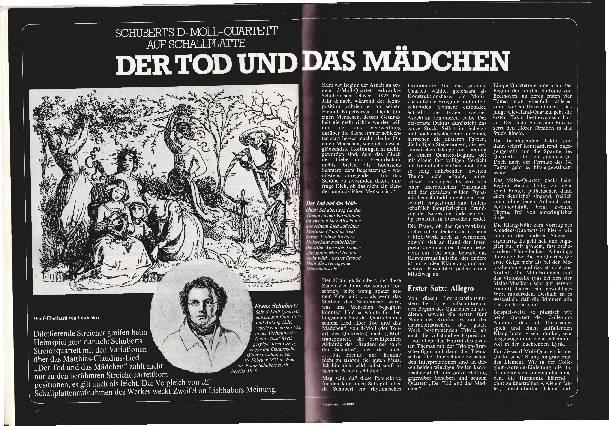 """Schuberts """"Tod und das Mädchen"""""""
