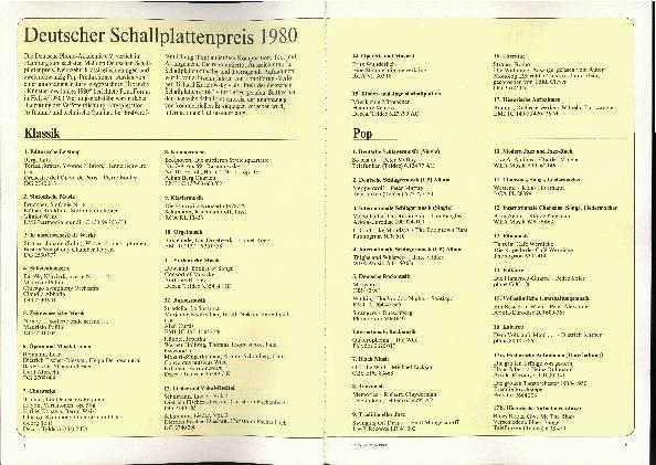 Deutscher Schallplattenpreis 1980