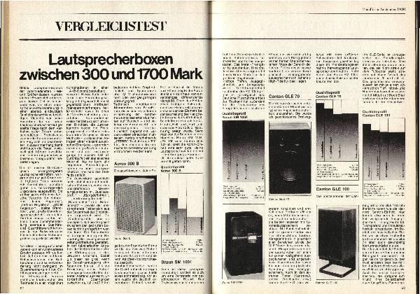 Lautsprecherboxen zwischen 300 und 1.700 Mark