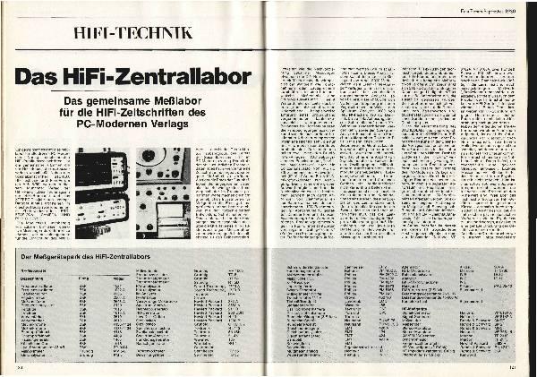 Das HiFi-Zentrallabor