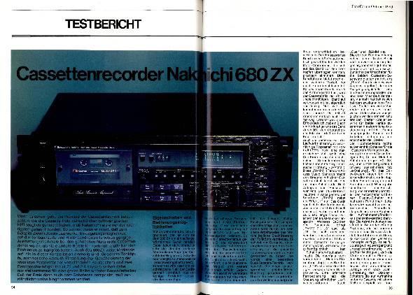 Kassettenrekorder Nakamichi 680 ZX
