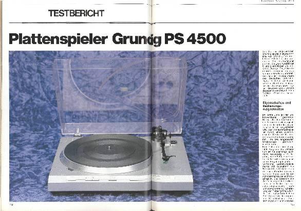 Plattenspieler Grundig PS 4.500