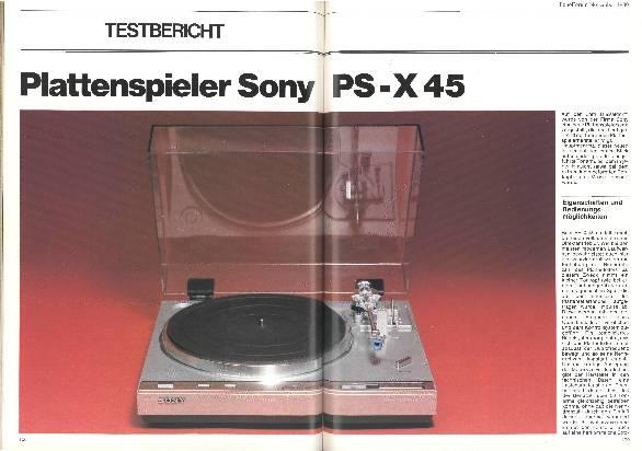 Plattenspieler Sony PS-X 45