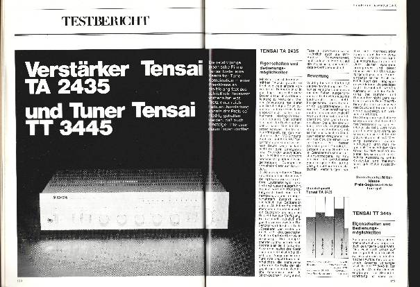 Verstärker Tensai TA 2435 und Tuner Tensai TT 3445