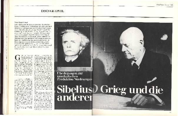 Sibelius, Grieg und die anderen