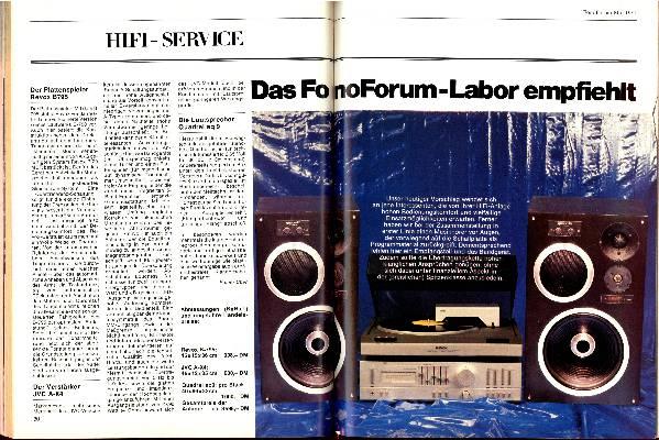 Das fono forum-Labor empfiehlt