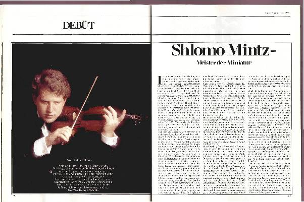 Shlomo Mintz - Meister der Miniatur