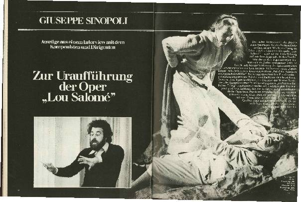 Zur Uraufführung der Oper Lou Salomé