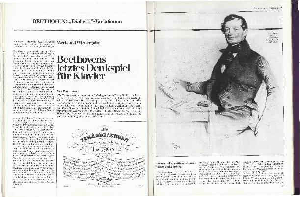 Beethovens letztes Denkspiel für Klavier