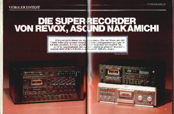 Die Super-Recorder von Revox, ASC und Nakamichi