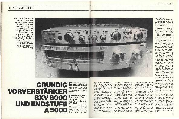 Grundig Vorverstärker SXV 6000 und Endstufe A 5000