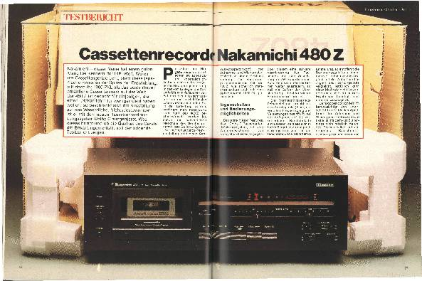 Kassettenrecorder Nakamichi 480 Z