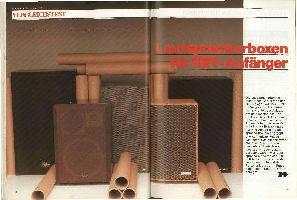 Lautsprecherboxen für HiFi-Anfänger