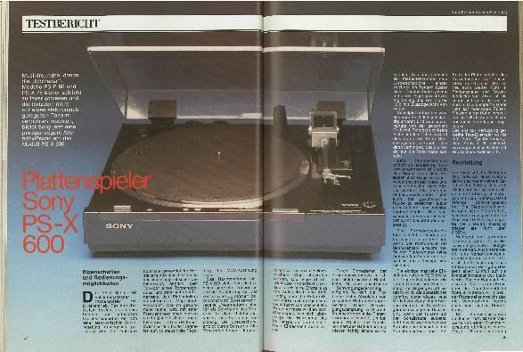 Plattenspieler Sony PS-X 600