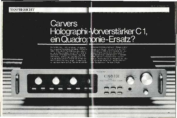 Carvers Holographie-Vorverstärker C1, ein Quadrophonie-Ersatz?