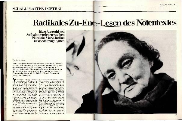 Radikales Zu-Ende-Lesen des Notentextes
