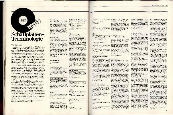 Schallplatten-Terminologie Folge 1