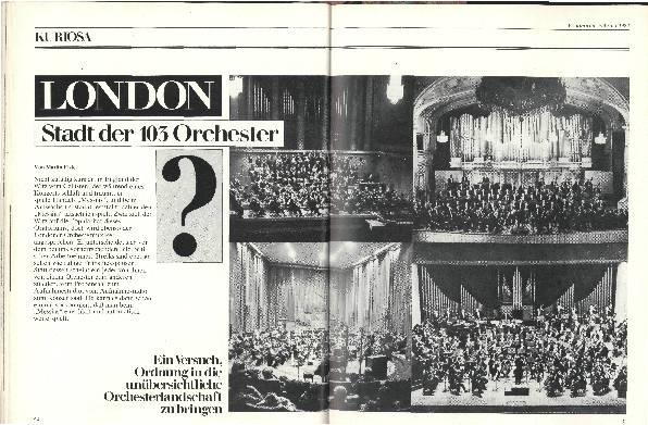 London –Stadt der 103 Orchester?