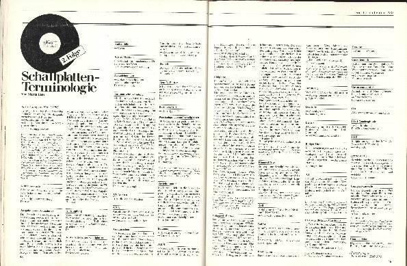 Schallplatten-Terminologie Folge 2