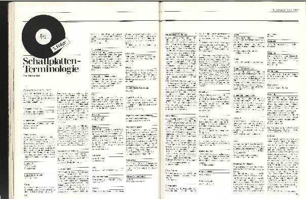 Schallplatten-Terminologie Folge 3