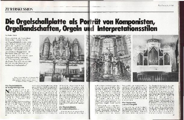 Orgelschallplatten