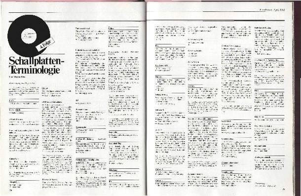 Schallplatten-Terminologie Folge 4