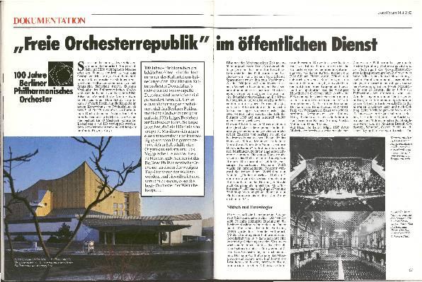 """""""Freie Orchesterrepublik"""" im öffentlichen Dienst"""