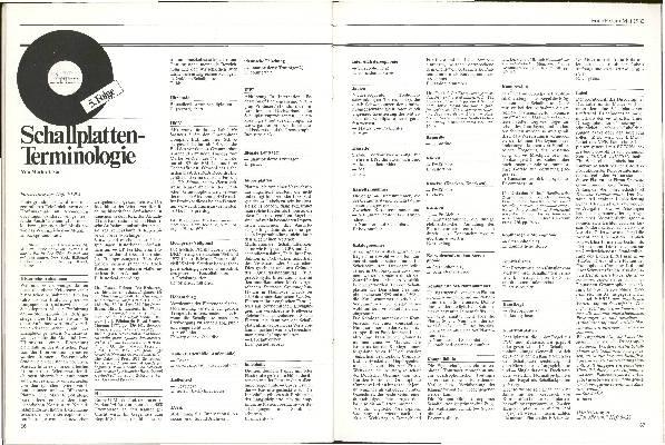 Schallplatten-Terminologie Folge 5