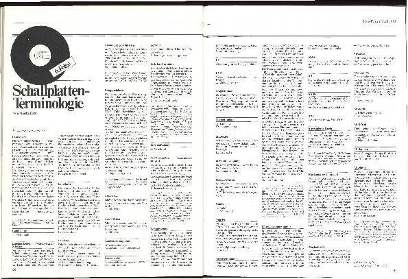 Schallplatten-Terminologie Teil 6