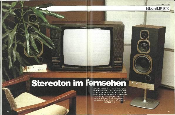 Stereoton im Fernsehen
