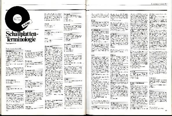 Schallplatten-Terminologie Teil 8