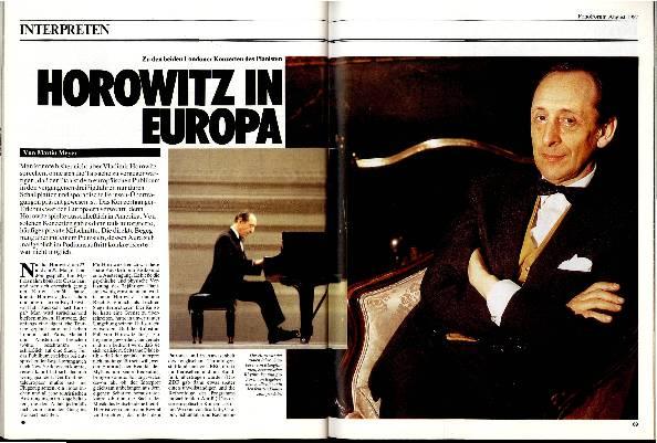 Horowitz in Europa