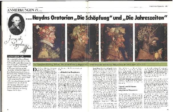 Anmerkungen zu Haydns Oratorien