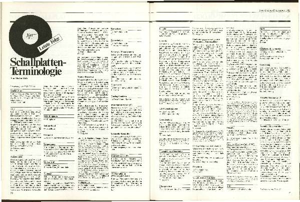 Schallplatten-Terminologie