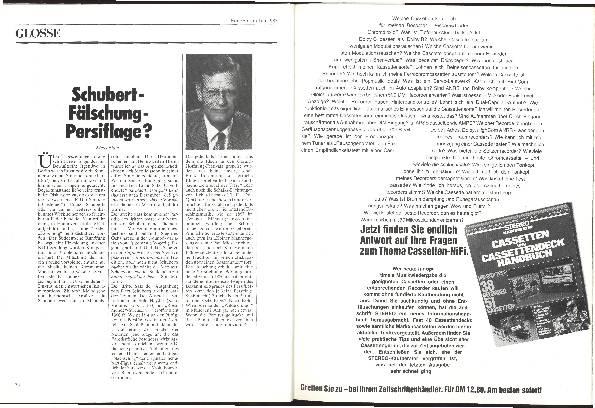 Schubert – Fälschung – Persiflage?