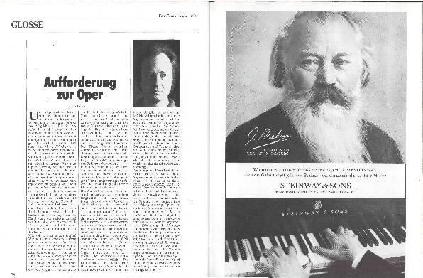 Aufforderung zur Oper