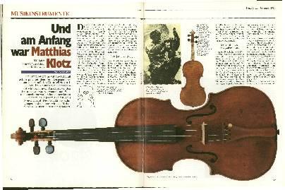 Und am Anfang war Moritz Klotz