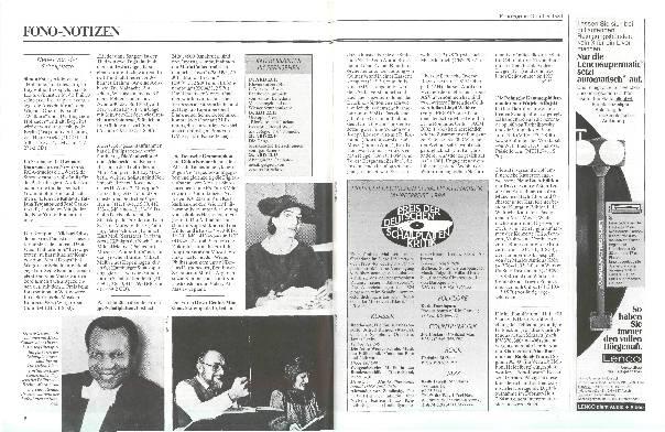 Preis der Deutschen Schallplattenkritik 1984