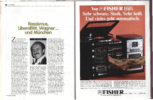 Rassismus, Liberalität, Wagner...und München